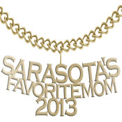 2013 Sarasota's Favorite Mom 14K Yellow Gold Pendant from Milan Jeweler.