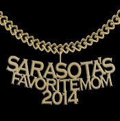 2014 Sarasota's Favorite Mom 14K Yellow Gold Pendant from Milan Jeweler.