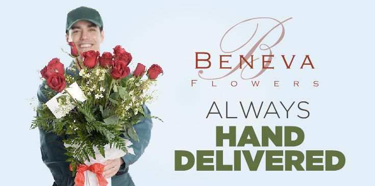 Our flowers are always hand designed and Hand delivered. Never in a box!