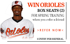Win Tickets to an Orioles Spring Training game when you refer a friend!