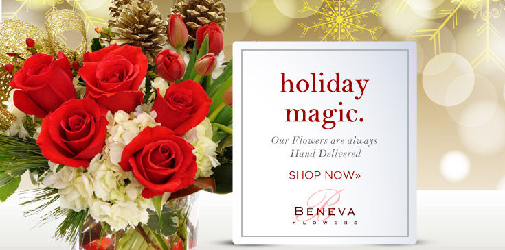 Flowers make the holidays special from Beneva Flowers.